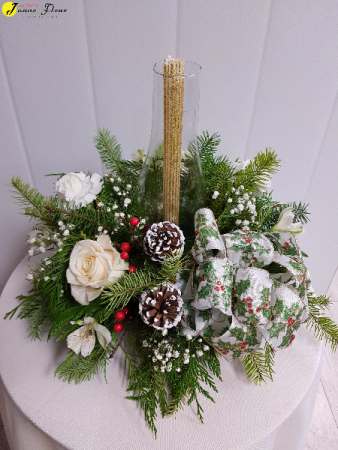 X-Mas Christmas Style Christmas Centerpiece with Chimney