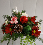 X-Mas Deck the Halls Small Centerpiece