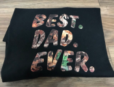 XL Camo best dad ever T-shirt 50% cotton 50% polyester