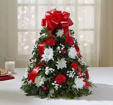 Christmas Tree Centerpiece table top centerpiece balsam/seasonal greens