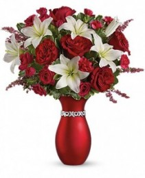 "Exclusively at Flowers Today Florist XOXO ""Keepsake Ceramic Vase"""