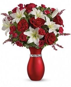 "Exclusively at Flowers Today Florist XOXO ""Keepsake Ceramic Vase"""