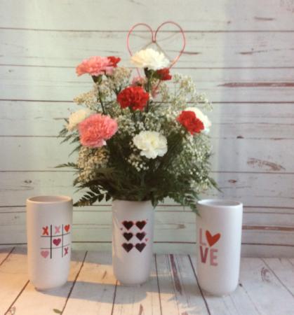 XOXO Carnation Vase