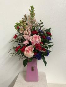 XOXO Pink Vase arrangement