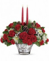 Sparkling Star Centerpiece Christmas Arrangement