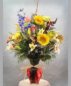Mixed Flowers Vase