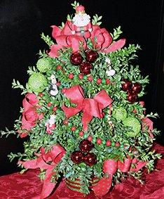 Festive Boxwood Christmas Tree!  a best seller!