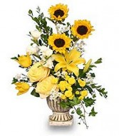 RADIANT YELLOW Urn Arrangement