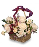 ROSE BASKET Flower Arrangement