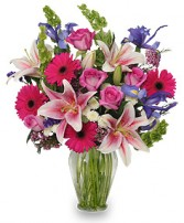 Lily Rose Spring Vase Fresh Flowers Vase