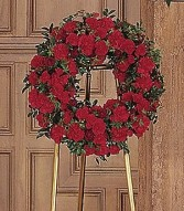 RED REGARDS WREATH Item # TF207-3
