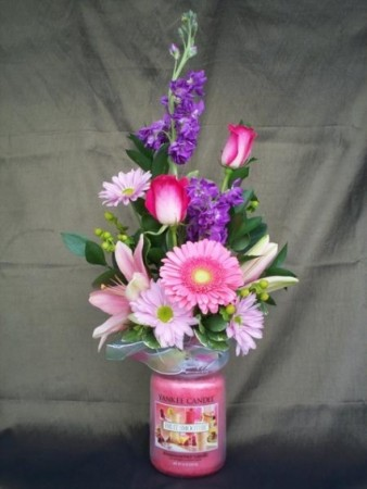 Yankee Candle Arrangement  Local Delivery Only