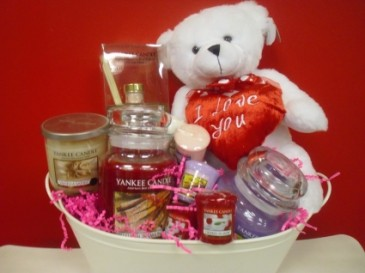 Yankee Candle Valentine Gift Basket Perfect for the Yankee Candle Lover!