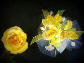 Yellow Alstroemeria wrist corsage