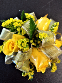 Yellow and Gold Corsage