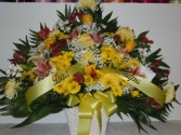 Yellow and Red Mix (TB 38) Funeral Basket