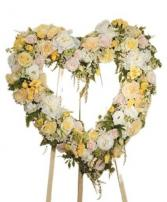 Yellow and White Heart Funeral
