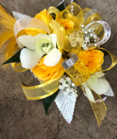 Yellow and white prom