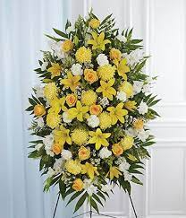 YELLOW AND WHITE STANDING SPRAY 3 WAS $199.00/NOW $165.00