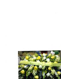 Yellow Beloved Casketpiece