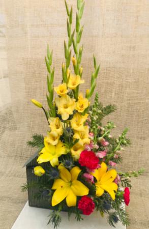 Yellow Bird Fresh Arrangement
