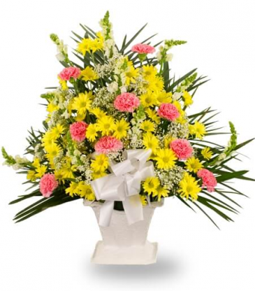 Yellow Daisies Sympathy Basket