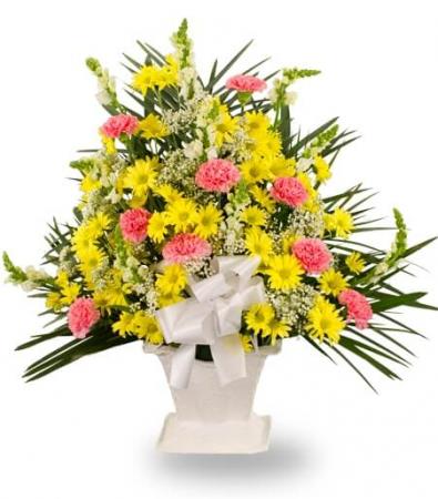 Yellow Daisies Sympathy Basket