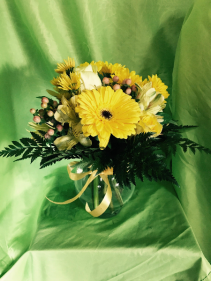 Yellow Daze Round Vase arrangement