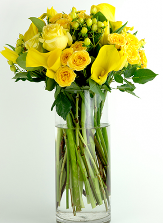 Yellow Temptation Round Arrangement