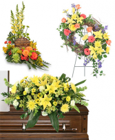 SPECIAL PRICING ON 3-Piece Funeral Package CHOOSE YOUR OWN COLOR TOO!  Casket, Urn, and Spray