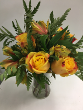 Yellow Glory Yellow roses and Peruvian lilies