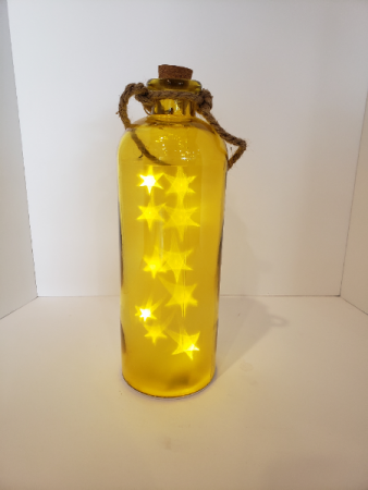 Yellow light up bottle Giftware
