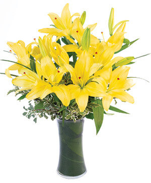 Yellow Lilies Bouquet in Chelmsford, MA | East Coast Florist