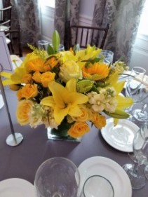 Yellow Low centerpiece