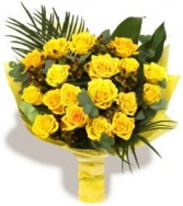 Yellow Luxury Bouquet 18 roses