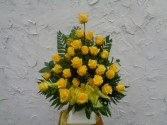 YELLOW PEACE FLORAL ARRANGEMENT