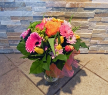 Yellow & Pink Vase arrangement