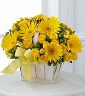 Yellow Posie Basket