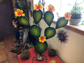 Yellow Prickly Pear Metal Art