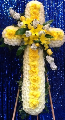 YELLOW RAY OF LIFE CROSS STANDING CROSS