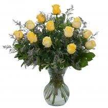 Yellow Rose Beauty Arrangement