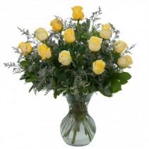 Yellow Rose Beauty Fresh Flower Arrangement