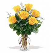Yellow Rose Bouquet Fort Worth Rose Delivery