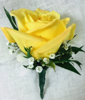 Yellow rose Boutoneire  Boutoneire