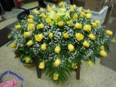 Yellow Rose (C32) Casket Spray