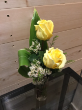 Yellow Rose Pair