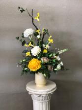 Yellow Rose Silk Centerpiece
