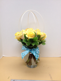 Yellow rose sphere Vase Arrangement