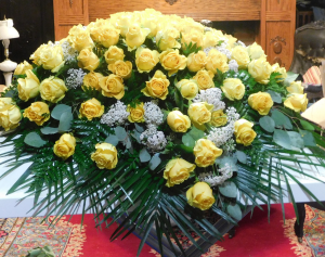 Yellow Rose Spray Blanket For Casket in Canton, GA | Canton Florist