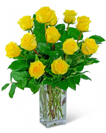 Yellow Roses (12) Flower Arrangement